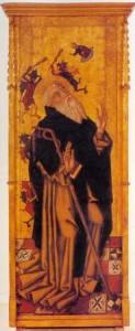 008A-TAULA DE SANT ANTONI(MNAC)PROCEDIA DE L'ESGLESIA DE L'ESPERIT SANT DE PALMA.EL 1825 ES TROBAVA A MANACOR.